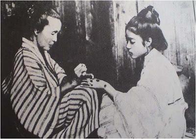 A young woman getting Hajichi